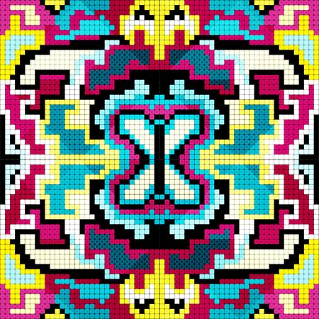 gray netting: bright pixels beautiful abstract seamless geometrical pattern