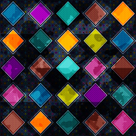 chaotical: colored polygons on a dark grunge background texture