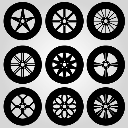 bolid: monochrome car wheels collection