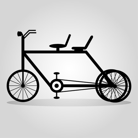 handlebar: monochrome bike with a shadow on a light background abstract symbol Illustration