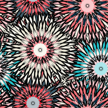 swelled: beautiful abstract seamless pattern vintage tribal background Illustration