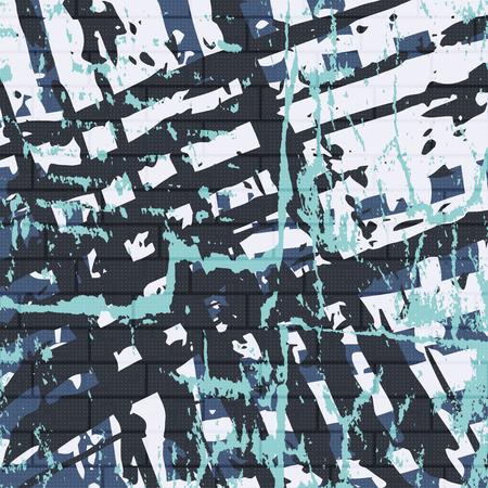 geometrical pattern: beautiful color abstract pattern vector illustration of graffiti Illustration