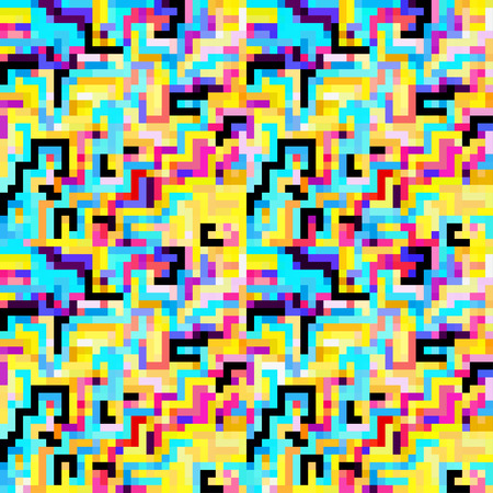 medley: small colored pixels seamless pattern