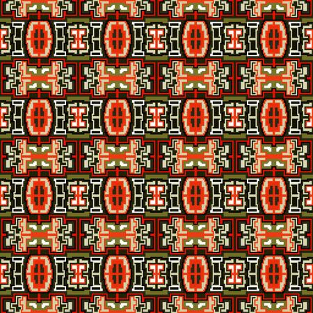 discrete: vintage beautiful small colored pixels seamless pattern