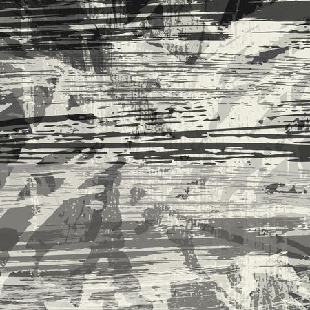 Fondo abstracto en blanco y negro de la pintada Ilustración de vector