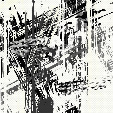 mooie zwart-wit abstracte kleurrijke achtergrond vector illustratie van graffiti Stock Illustratie