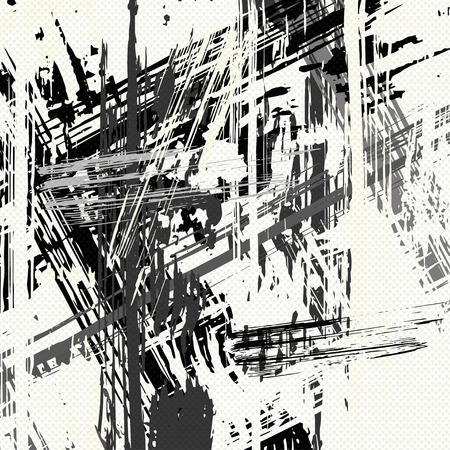 beautiful monochrome abstract colorful background vector illustration of graffiti