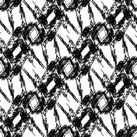 flawless: monochrome vintage seamless pattern vector illustration
