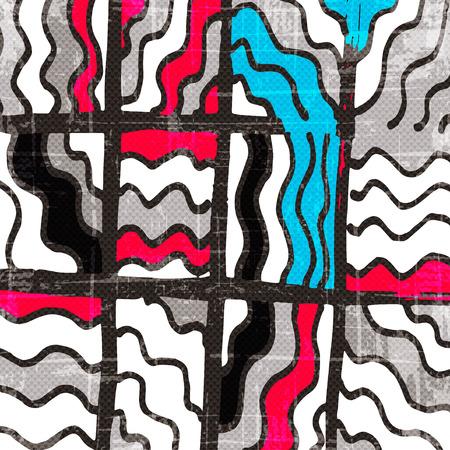 tar paper: geometric abstract pattern vector illustration of graffiti Illustration