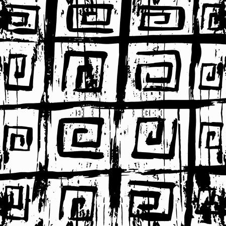 rebellious: Graffiti monochrome abstract pattern on a white background Illustration