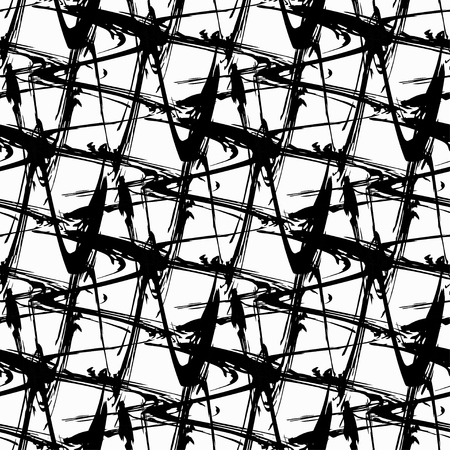 flawless: abstract monochrome vintage seamless pattern
