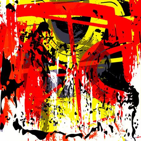 graffiti background: beautiful abstract colored graffiti background Illustration