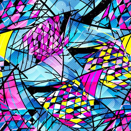 Graffiti abstract color seamless background Illusztráció