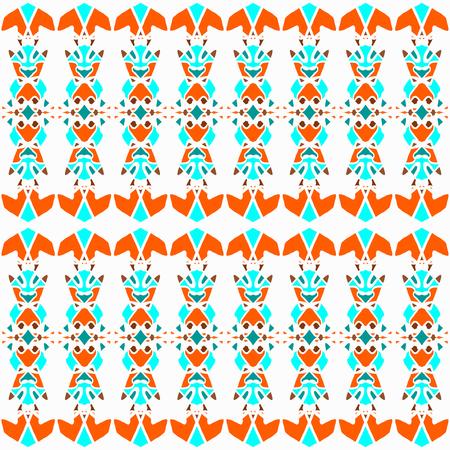 delicate vintage color ornament seamless pattern Illustration