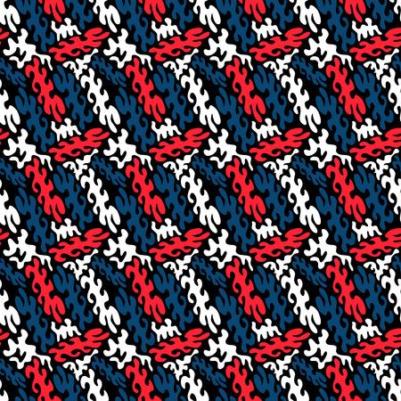 落書き明るいサイケデリックなシームレス パターン黒の背景のベクトル図  イラスト・ベクター素材