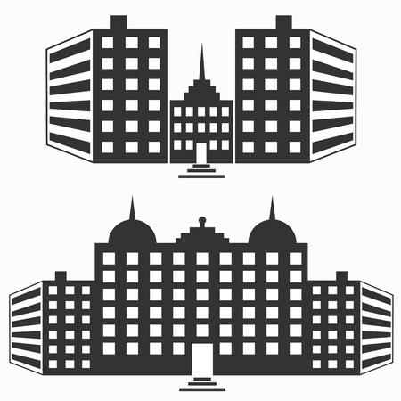 rural development: buildings for your design isolated symbols