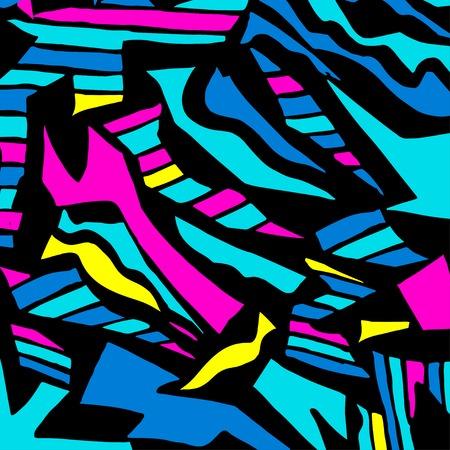 colored abstract pattern graffiti