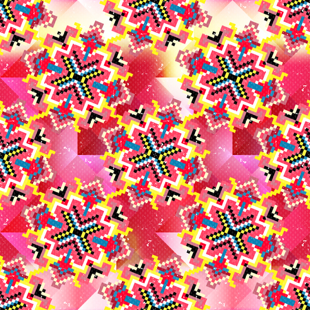 spindle: abstract colorful geometric seamless pattern