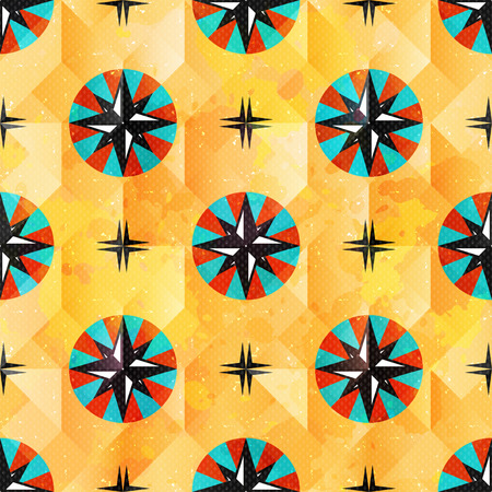 maritime: color beautiful abstract seamless pattern maritime symbols Illustration