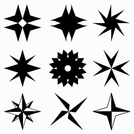 monochrome: monochrome abstract stars icons