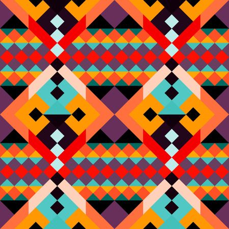 trippy: colored geometric polygons seamless pattern