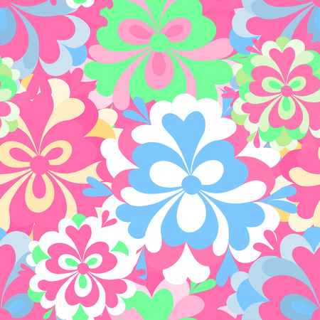abstract flowers: delicate abstract flowers seamless pattern