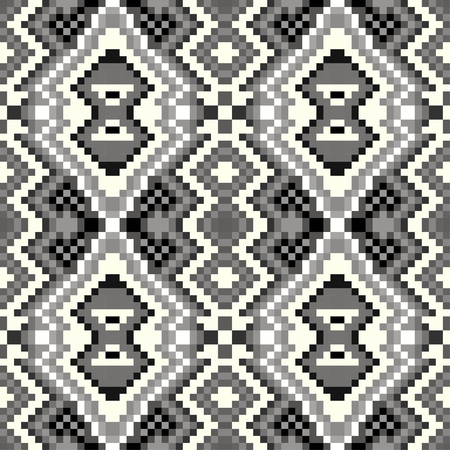 acu: pixel seamless pattern on a gray background Illustration