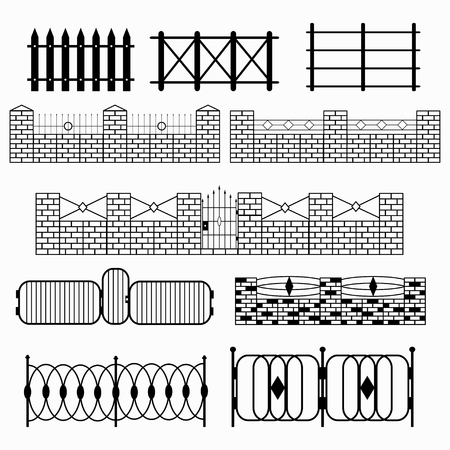 fencepost: black fence collection of abstract symbols