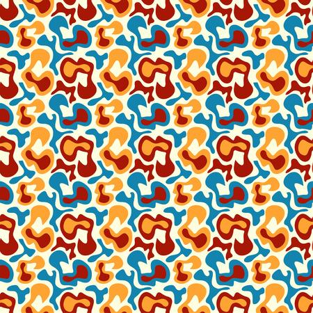 graphiti: Graffiti on an orange background. Tribal striped seamless pattern Illustration
