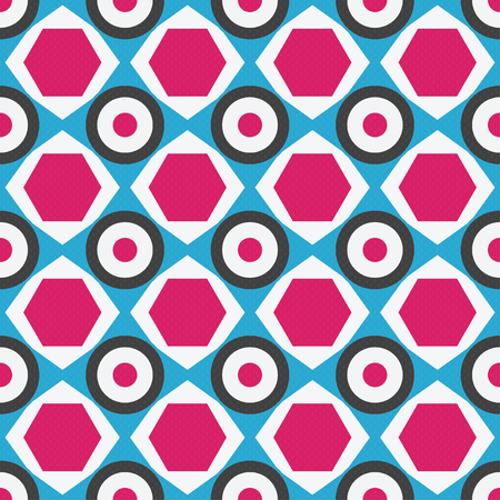 geometric seamless pattern in retro colors Illustration