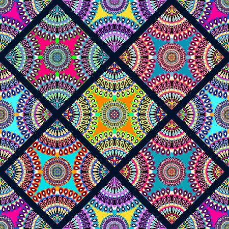 ethno: seamless pattern vintage ethnic ornament vector illustration Illustration