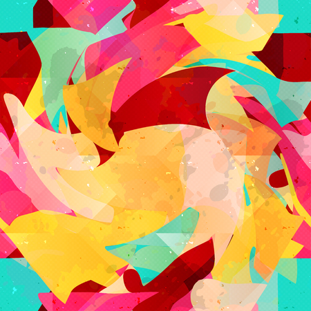 Graffiti psychedelic abstract seamless background