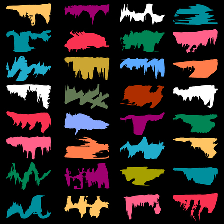 brightly: brightly colored graffiti stains Set