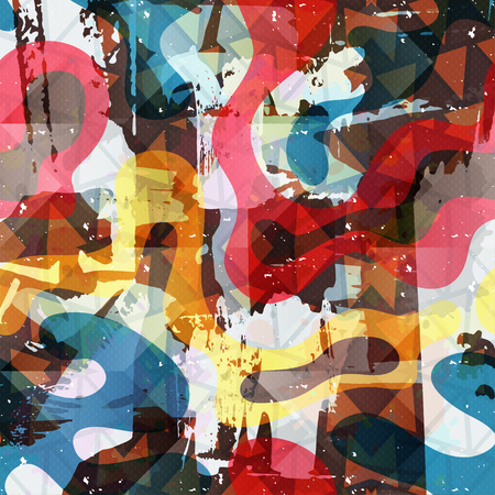 wall decor: graffiti beautiful abstract background vector illustration