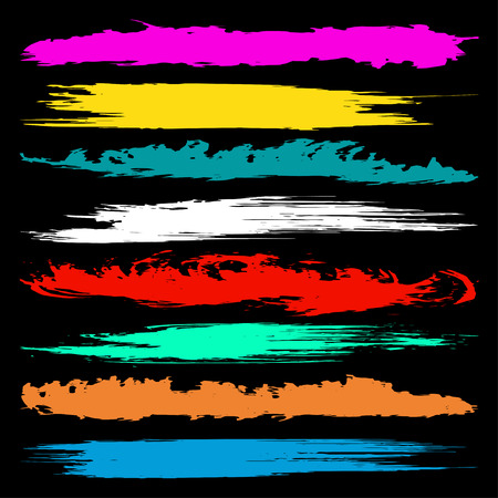 psychedelic colored spots graffiti Set