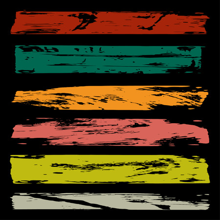 patching: bright colored brush strokes a beautiful collection for design Illustration