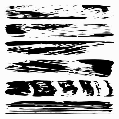 black ink: Black ink vector brush strokes Illustration