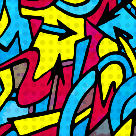 graffiti background: psychedelic abstract colored graffiti background Illustration