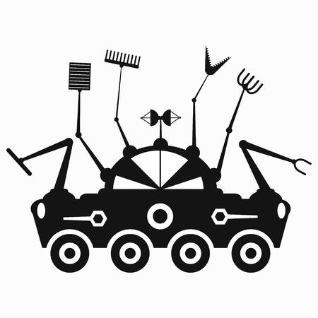 lunar rover: black lunar rover symbol