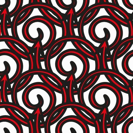 rhythm rhythmic: Seamless abstract geometric pattern on a white background