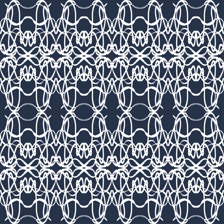 monochrome vintage seamless pattern on a black background