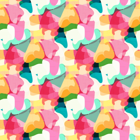 girlish: Abstract girlish background. Geometric seamless pattern for girls and boys.