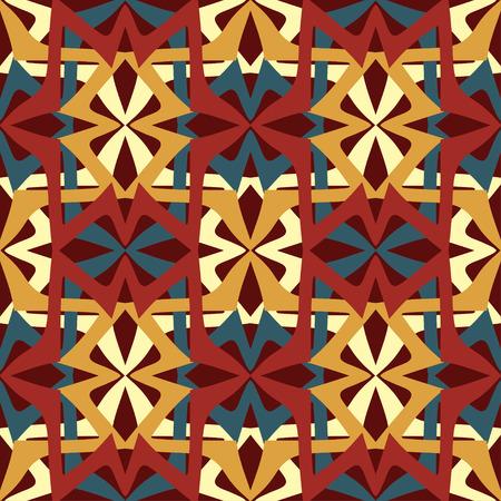 Géométrique ethnique oriental ikat seamless design traditionnel pour le fond