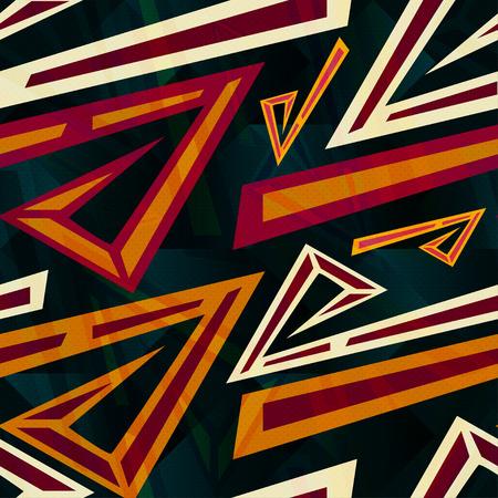 graffiti colored polygons seamless pattern Illustration
