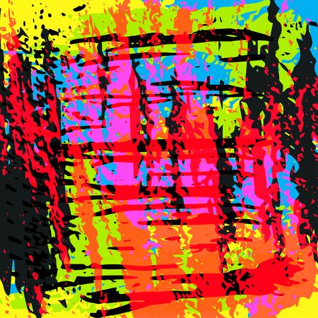colored lines Graffiti pattern on a black background vector illustration Illustration