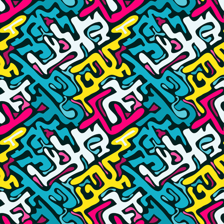pattern: graffiti color seamless pattern Illustration