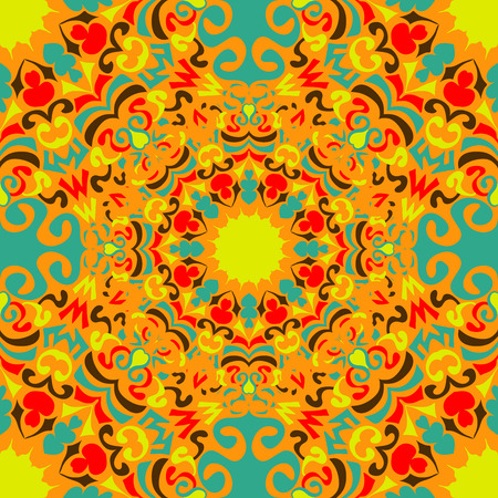 red rug: vintage tribal seamless pattern vector illustration Illustration