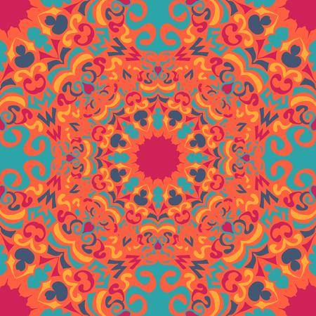 mandala vintage tribal seamless pattern vector illustration Illustration