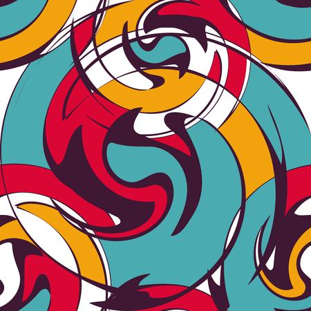 Motif de graffiti psychédélique pour la conception Banque d'images - 91003850