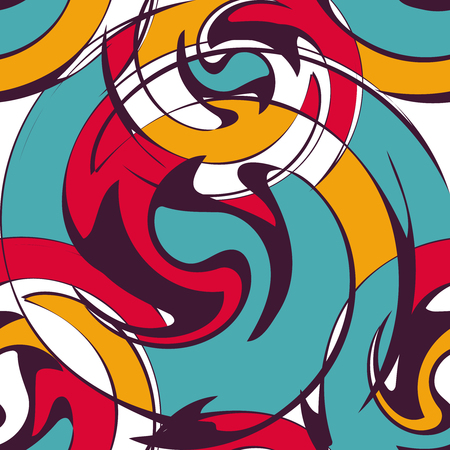 psychedelic graffiti pattern for design